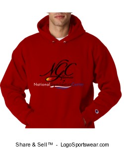 Adult Classic Hoodie -Red Design Zoom